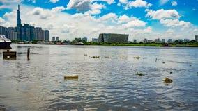 Ciudad grande con las casas grandes Ho Chi Minh City imagen de archivo libre de regalías