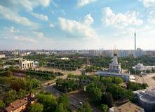 Ciudad grande, visión superior imagenes de archivo