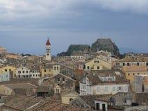 Ciudad Grecia de Corfú Foto de archivo