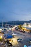 Ciudad griega de la isla de los Milos de Adamas Fotos de archivo libres de regalías