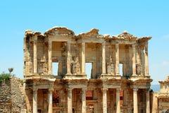 Ciudad griega Ephesus de la antigüedad Foto de archivo libre de regalías