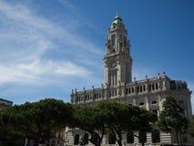 Ciudad Hall On Daylight de Oporto fotos de archivo