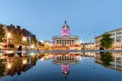 Ciudad Hall England de Nottingham fotos de archivo libres de regalías