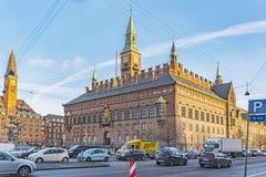 Ciudad Hall Square de Copenhague Imágenes de archivo libres de regalías