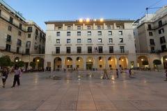 Ciudad Hall Square de la ciudad de Alicante Fotografía de archivo libre de regalías