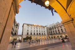 Ciudad Hall Square de la ciudad de Alicante Fotos de archivo