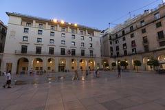 Ciudad Hall Square de la ciudad de Alicante Foto de archivo