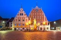 Ciudad Hall Square en la ciudad vieja de Riga, Letonia foto de archivo libre de regalías