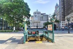 Ciudad Hall Subway Station de Brooklyn Fotografía de archivo libre de regalías