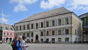 Ciudad Hall Timelapse de Lund almacen de metraje de vídeo