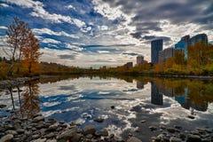 Ciudad HDR de Calgary fotografía de archivo