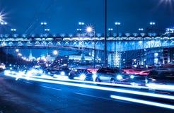Ciudad hermosa de la noche Foto de archivo libre de regalías