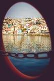 Ciudad hermosa de Parga Foto de archivo