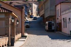 Ciudad hermosa de Sighnaghi de Georgia imagen de archivo libre de regalías