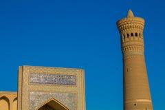 Ciudad hermosa de Uzbekistán de los monumentos arquitectónicos de Samarkand y de Bukhara foto de archivo libre de regalías