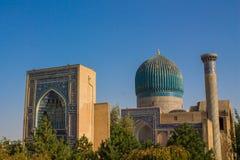Ciudad hermosa de Uzbekistán de los monumentos arquitectónicos de Samarkand y de Bukhara fotos de archivo