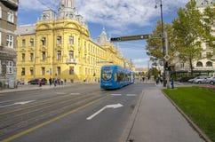 Ciudad de Zagreb, Croacia imagenes de archivo