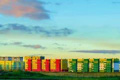 Ciudad hermosa del color Foto de archivo libre de regalías