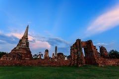 Ciudad histórica de Ayutthaya Fotos de archivo libres de regalías