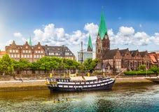 Ciudad histórica de Bremen, Alemania imagen de archivo libre de regalías