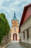 Ciudad histórica de Kamyanets-Podolsky del distrito. Fotos de archivo