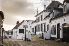 Ciudad histórica de la espina conocida para sus casas blancas Imágenes de archivo libres de regalías