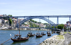 Ciudad histórica de Oporto, Portugal fotografía de archivo