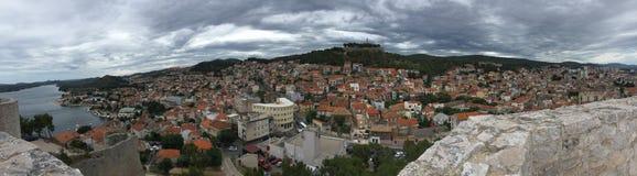 Ciudad histórica de Sibenik Imágenes de archivo libres de regalías