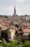 Ciudad histórica en Francia Foto de archivo libre de regalías