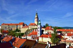 Ciudad histórica en República Checa imagen de archivo libre de regalías