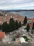 Ciudad histórica Sibenik Fotos de archivo libres de regalías