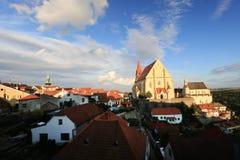 Ciudad histórica Znojmo, República Checa Foto de archivo