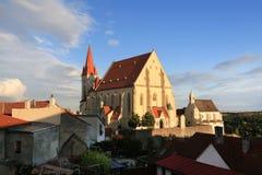 Ciudad histórica Znojmo, República Checa Fotografía de archivo