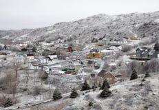 Ciudad hivernal Foto de archivo libre de regalías