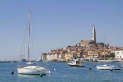 Ciudad idílica Rovinj en Istria Fotos de archivo
