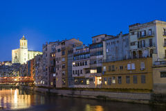 Ciudad III de Girona Fotos de archivo libres de regalías