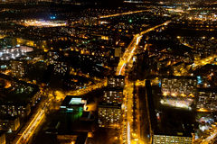 Ciudad iluminada Foto de archivo libre de regalías