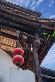 Ciudad imperial nueve de la tostada de la tostada de Enshi en el arte arquitectónico de Pasillo Fotos de archivo libres de regalías