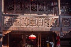 Ciudad imperial nueve de la tostada de la tostada de Enshi en el arte arquitectónico de Pasillo Fotografía de archivo libre de regalías
