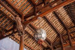 Ciudad imperial nueve de la tostada de la tostada de Enshi en el arte arquitectónico de Pasillo Fotografía de archivo