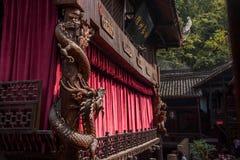 Ciudad imperial nueve de la tostada de la tostada de Enshi en los soportes de Hall Theater y del teatro Imágenes de archivo libres de regalías