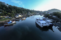 Ciudad Indonesia de Padang Fotos de archivo