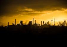Ciudad industrial de Ostrava fotografía de archivo