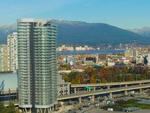 Ciudad infrastucture Vancouver Canadá noviembre de 2017 moderno imágenes de archivo libres de regalías