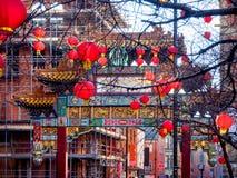 Ciudad Inglaterra de Manchester China Imágenes de archivo libres de regalías