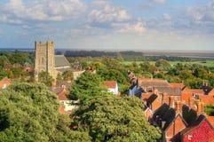Ciudad inglesa típica Fotografía de archivo libre de regalías