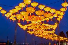 Ciudad internacional 2016 del carnaval de la linterna mágica de Shangai de la luz Foto de archivo libre de regalías