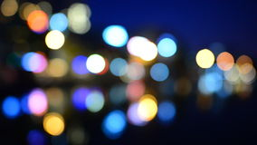 Ciudad internacional en la noche