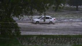Ciudad inundada almacen de metraje de vídeo