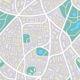 Ciudad inventada sin nombres ilustración del vector